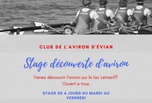 Stages d'initiation à l'aviron